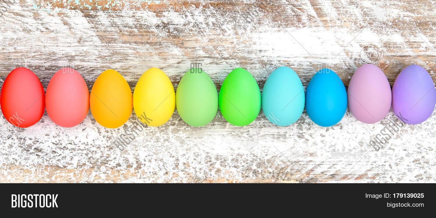 Colorful Easter Eggs Decoration Bigstock