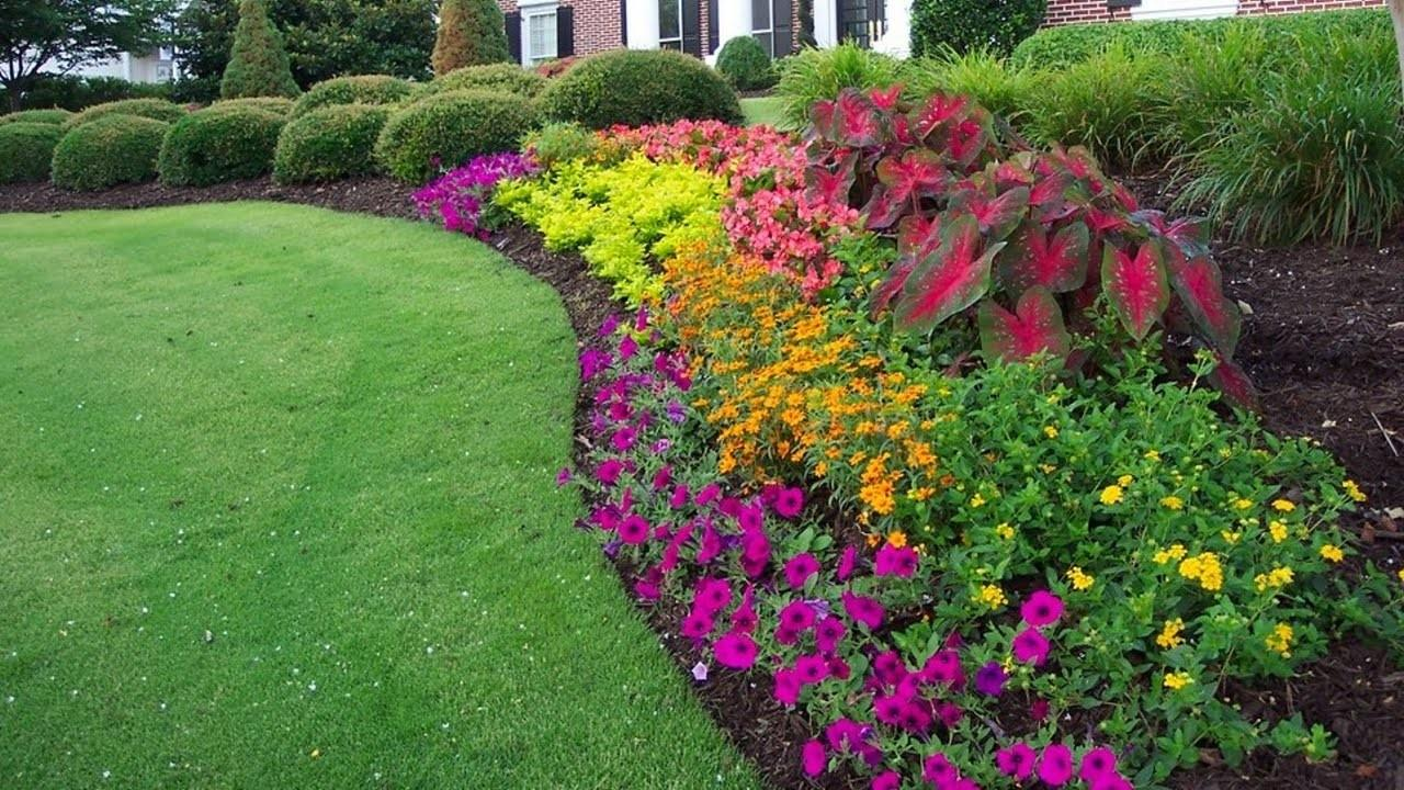 Colorful Flower Beds Improve Your Home Curb Appeal