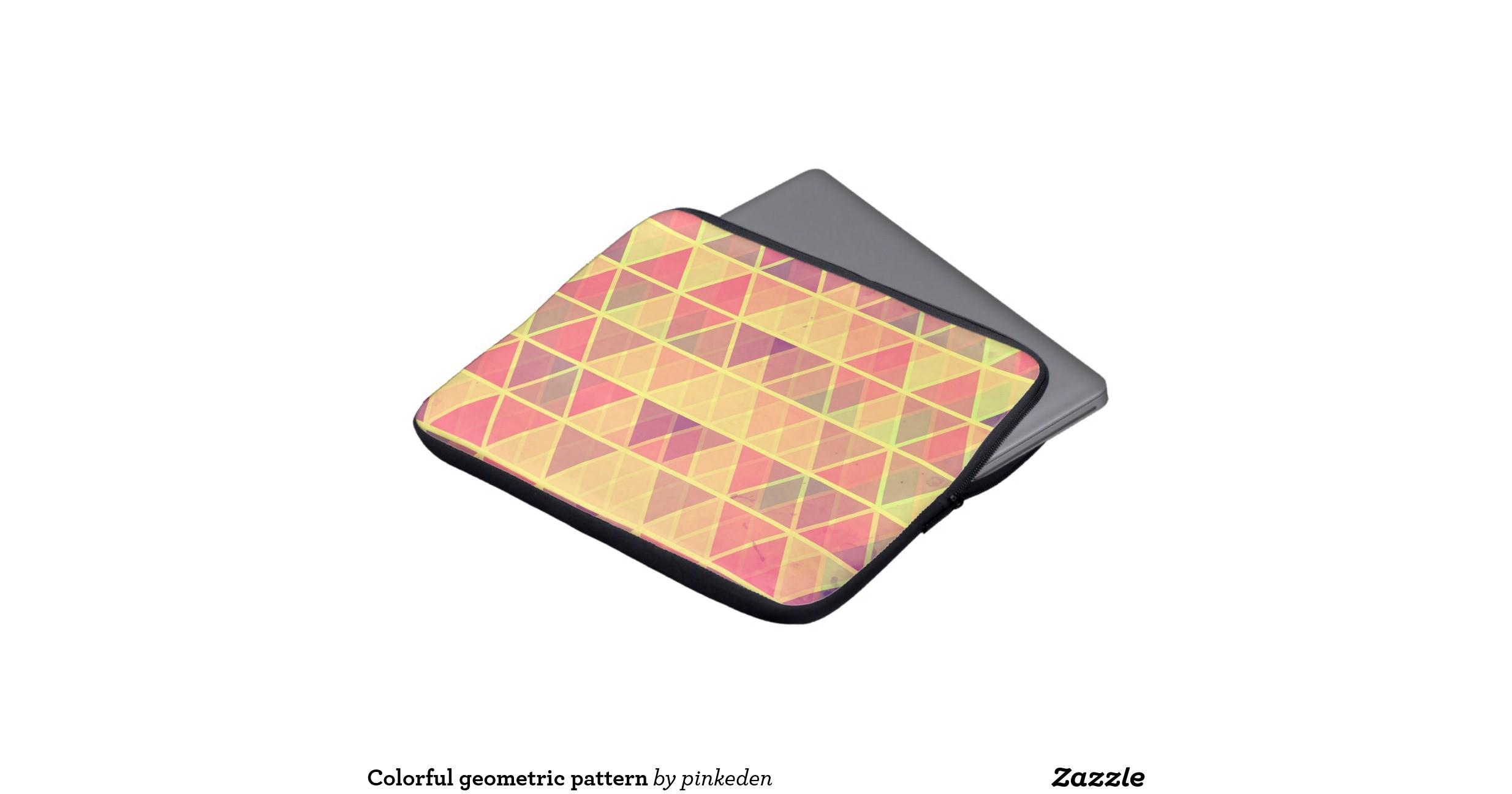 Colorful Geometric Pattern Laptop Sleeves Zazzle