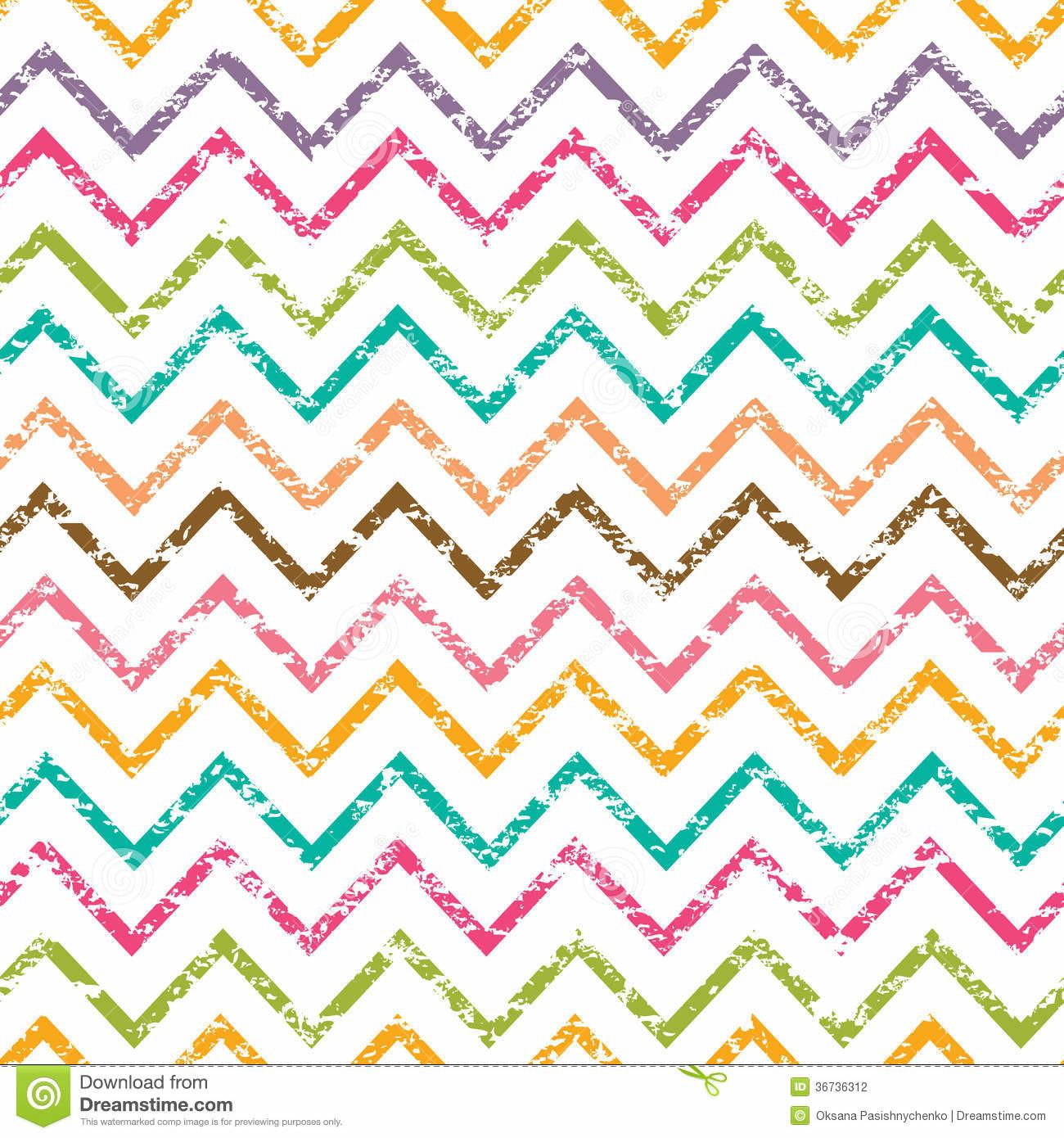 Colorful Grunge Chevron Seamless Pattern Stock Vector