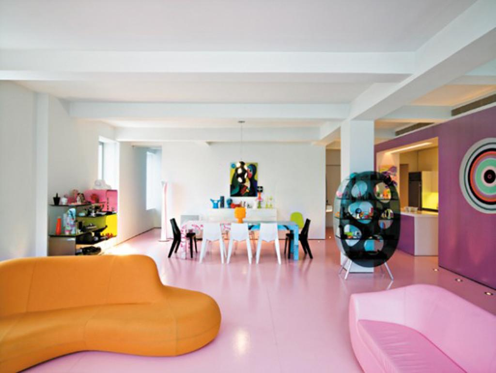 Colorful Karim Rashid Apartment Designs Iroonie