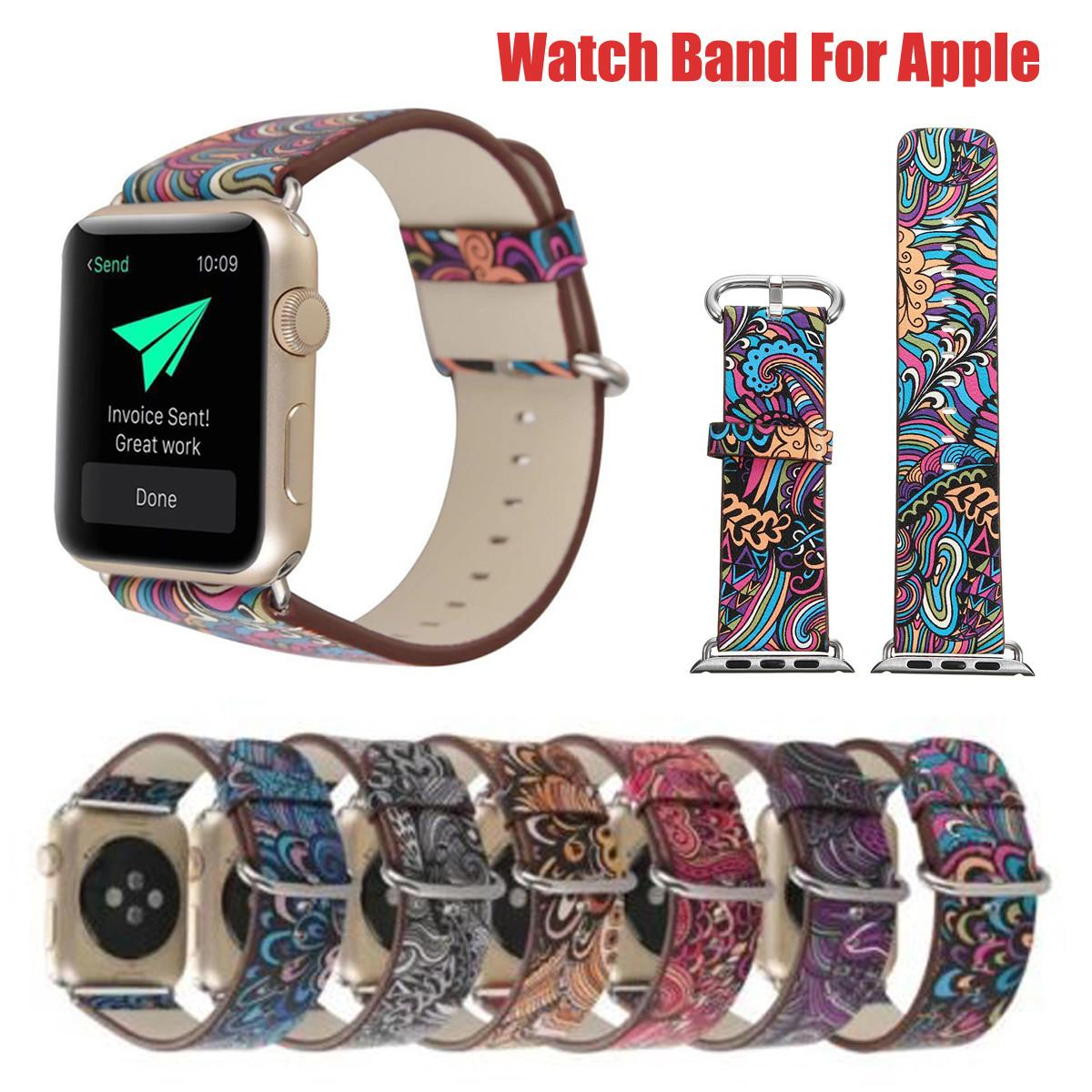 Colorful Leather Watch Band Strap 38mm Apple