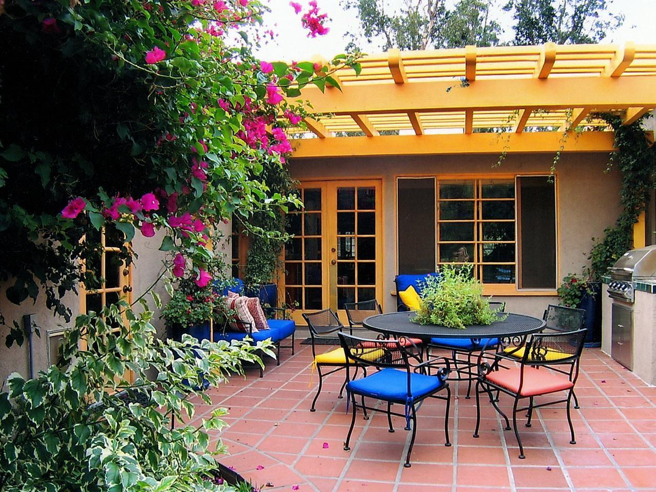Colorful Outdoor Rooms Spaces Patio Ideas