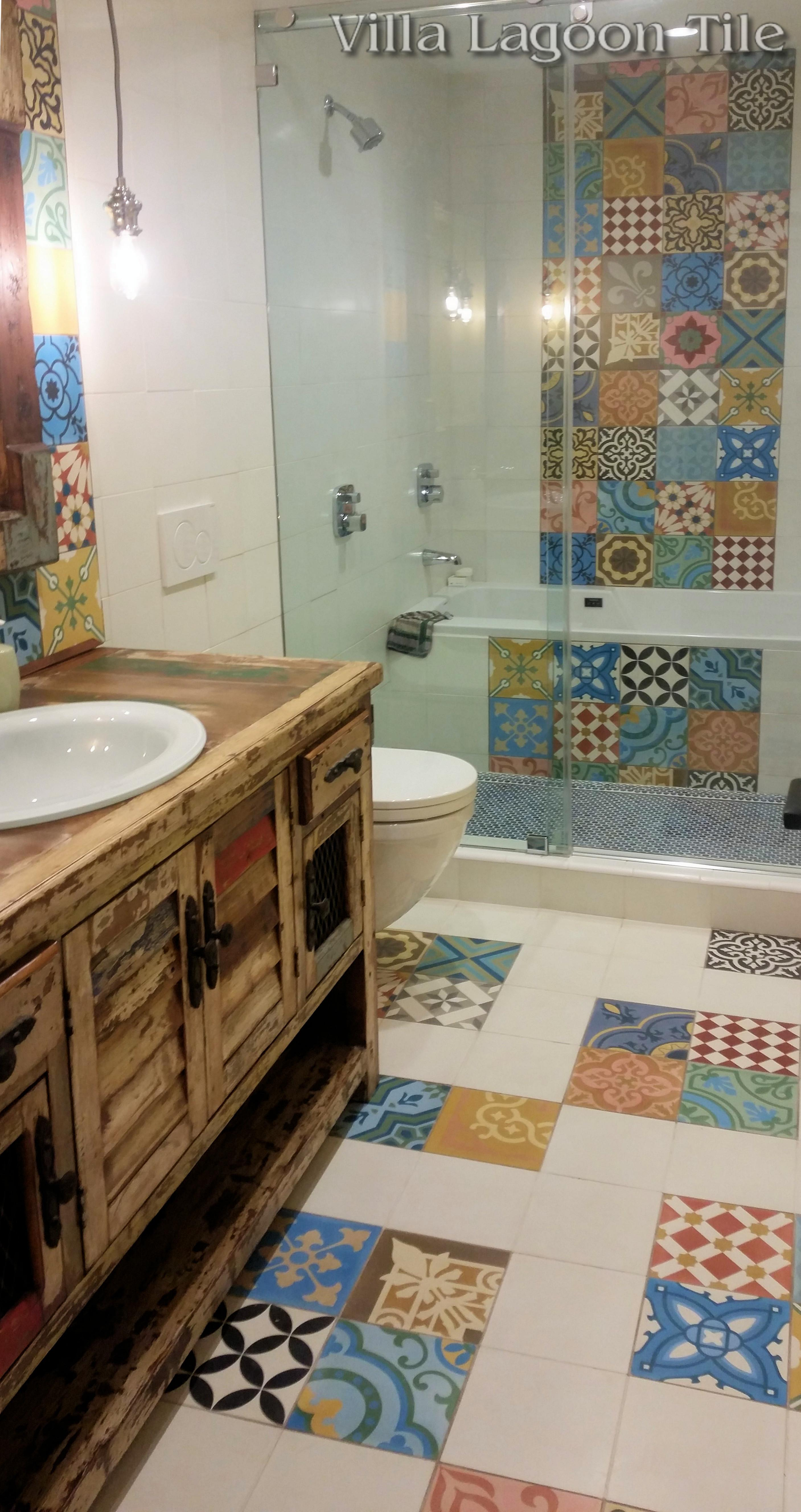 Colorful Patchwork Cement Tile Stock Villa Lagoon