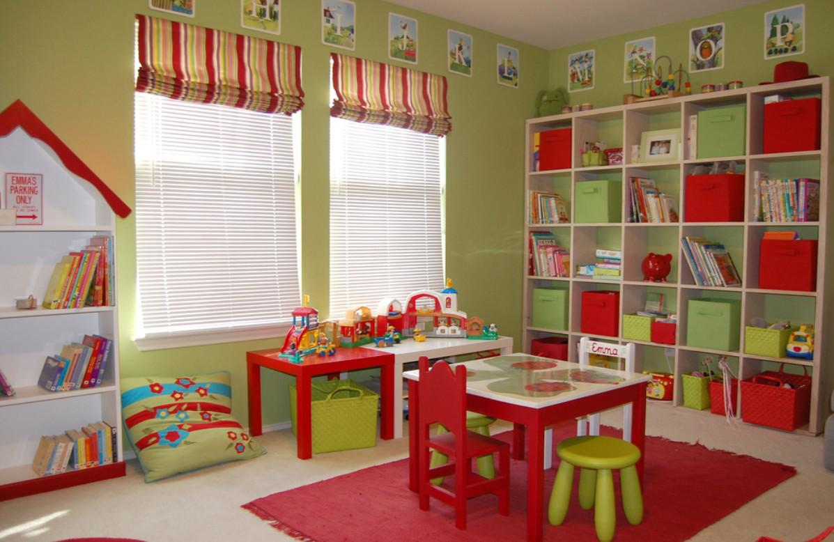 Colorful Playroom Flooring Ideas Furnished Appliances