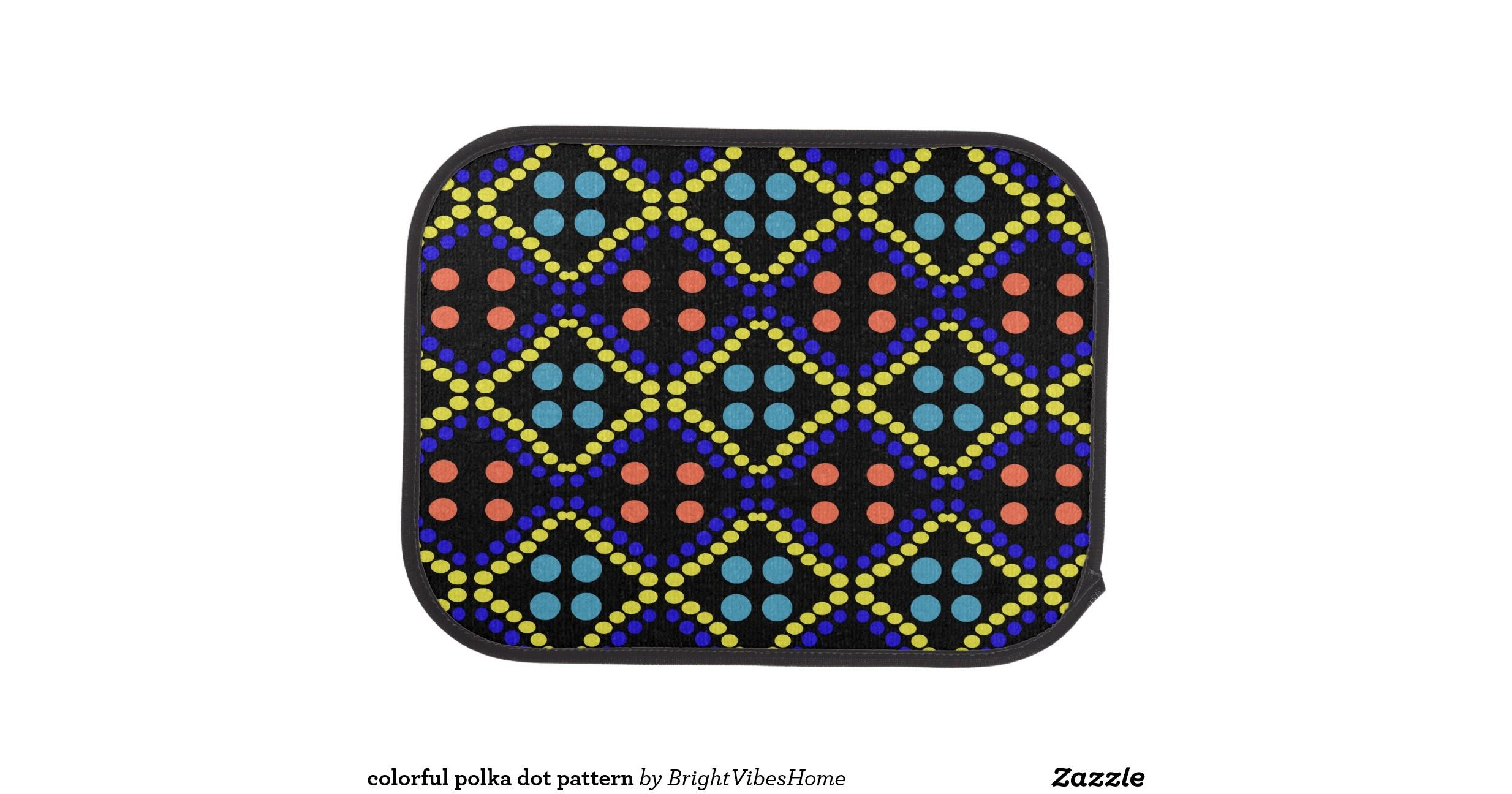 Colorful Polka Dot Pattern Floor Mat Zazzle