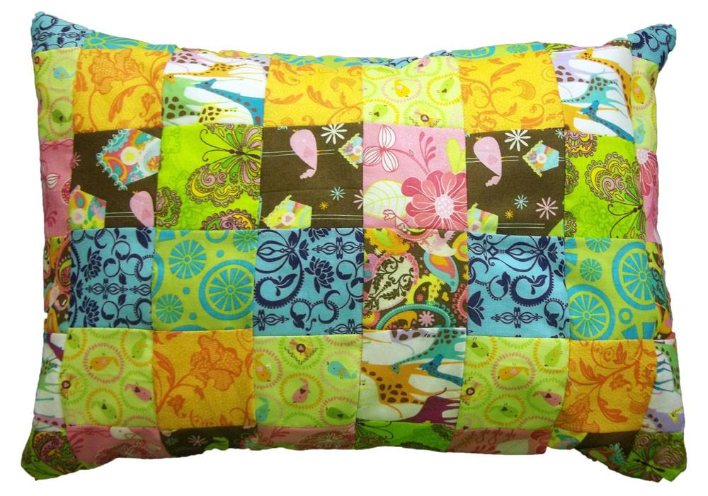 Colorful Quilted Accent Pillow Deviant Diy