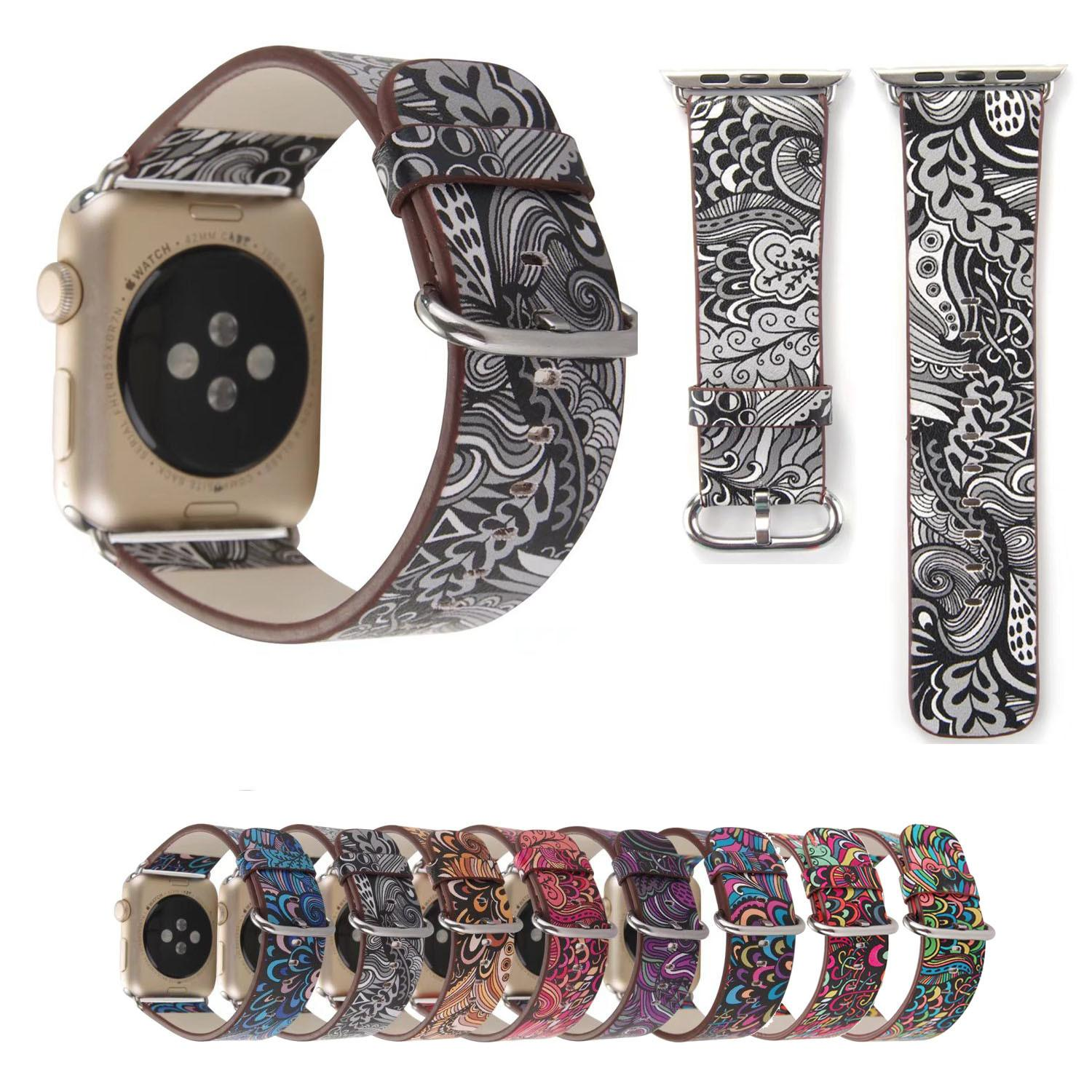 Colorful Retro Floral Watch Strap Apple Band