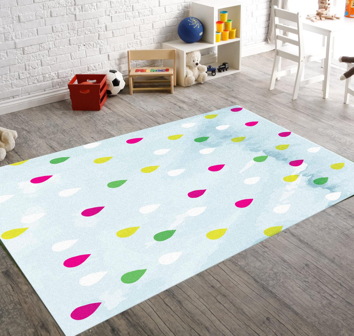 Colorful Rug Kids Floor Rugs Bedside Room Hawkerpeddler