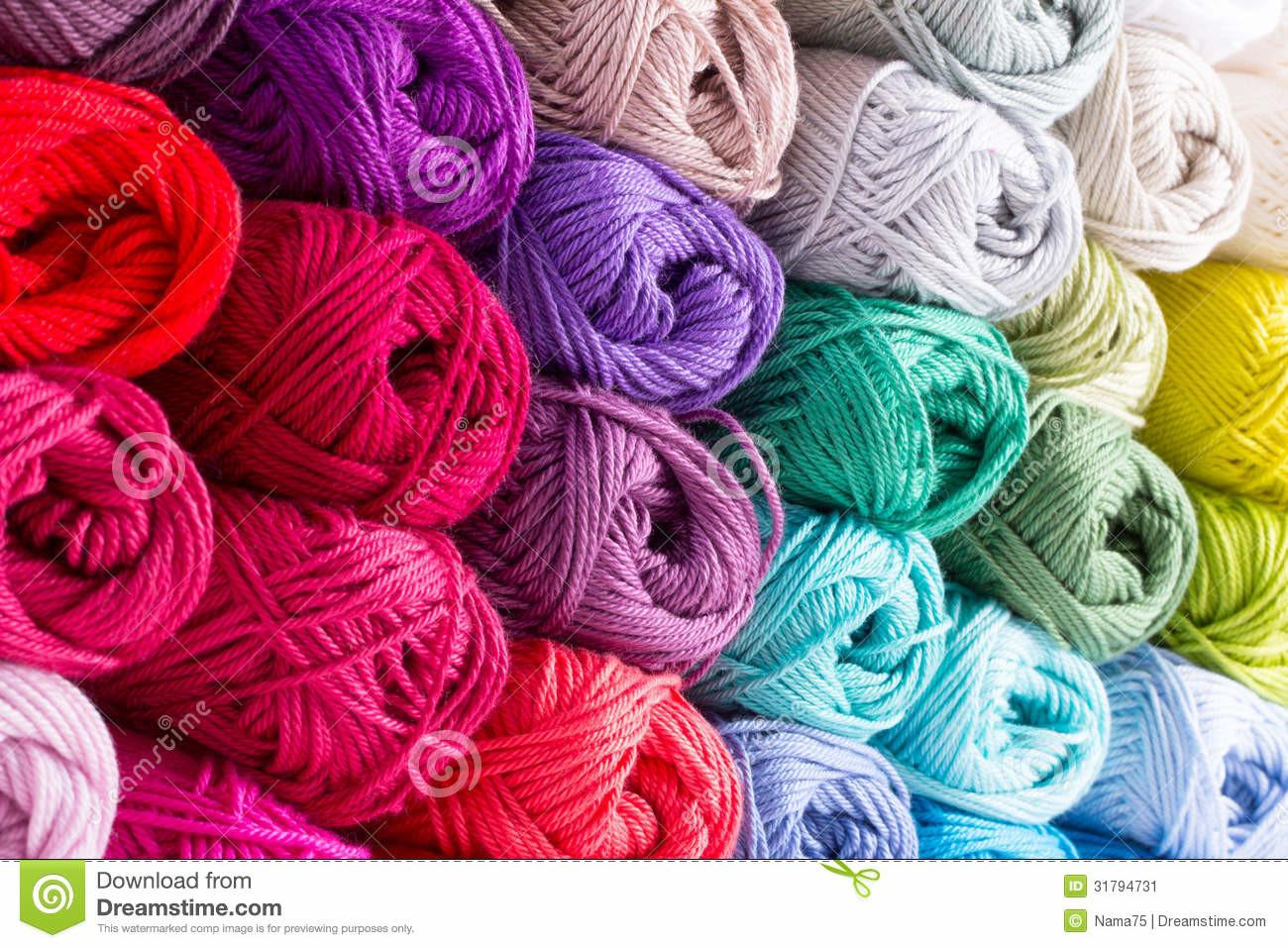 Colorful Skeins Yarn Stock