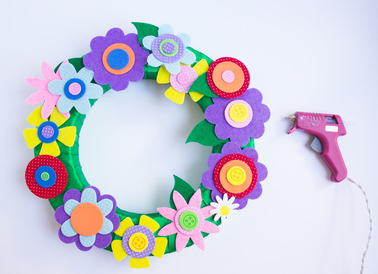 Colorful Spring Flower Wreath