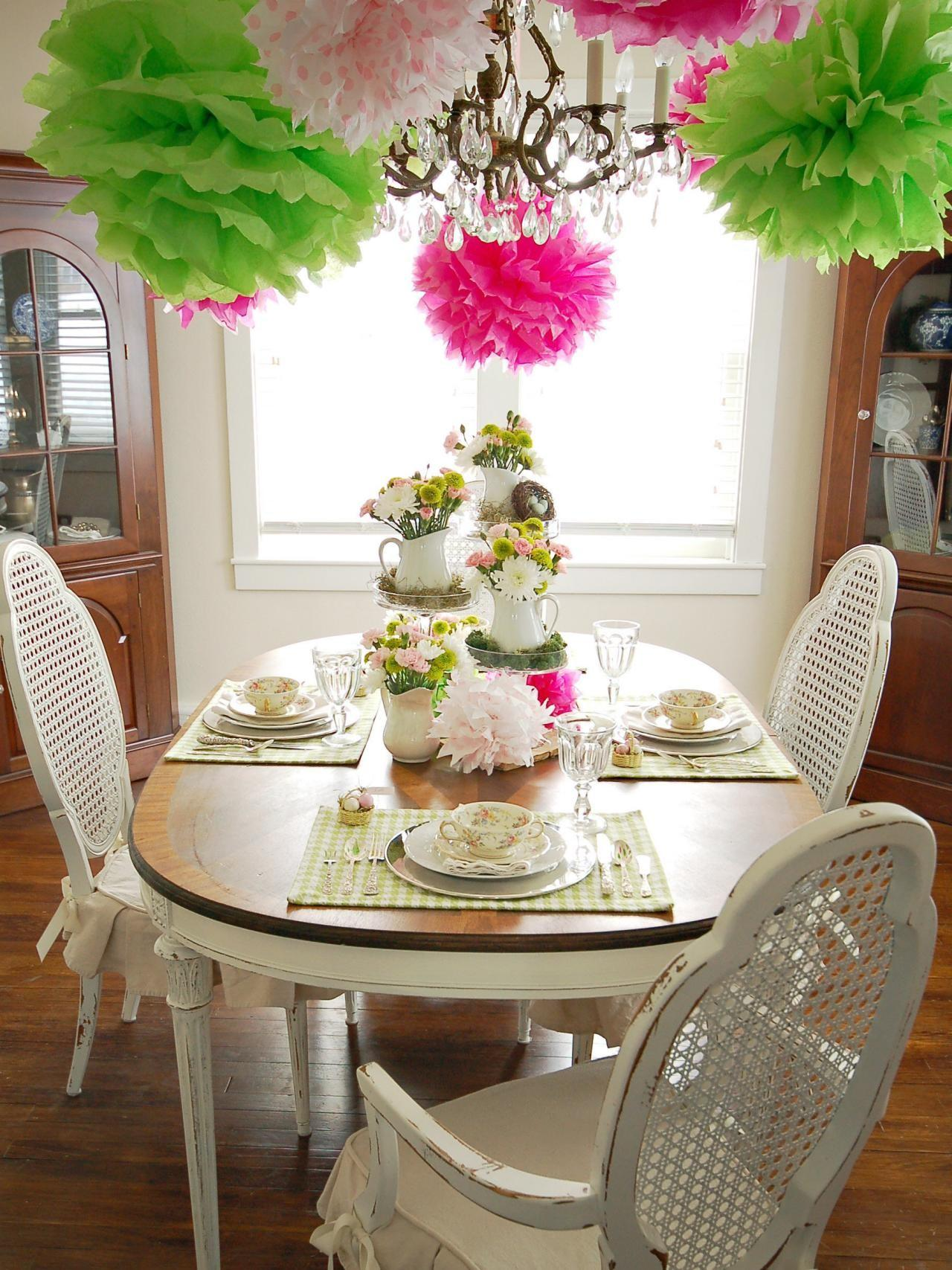Colorful Spring Table Setting Entertaining Ideas Party