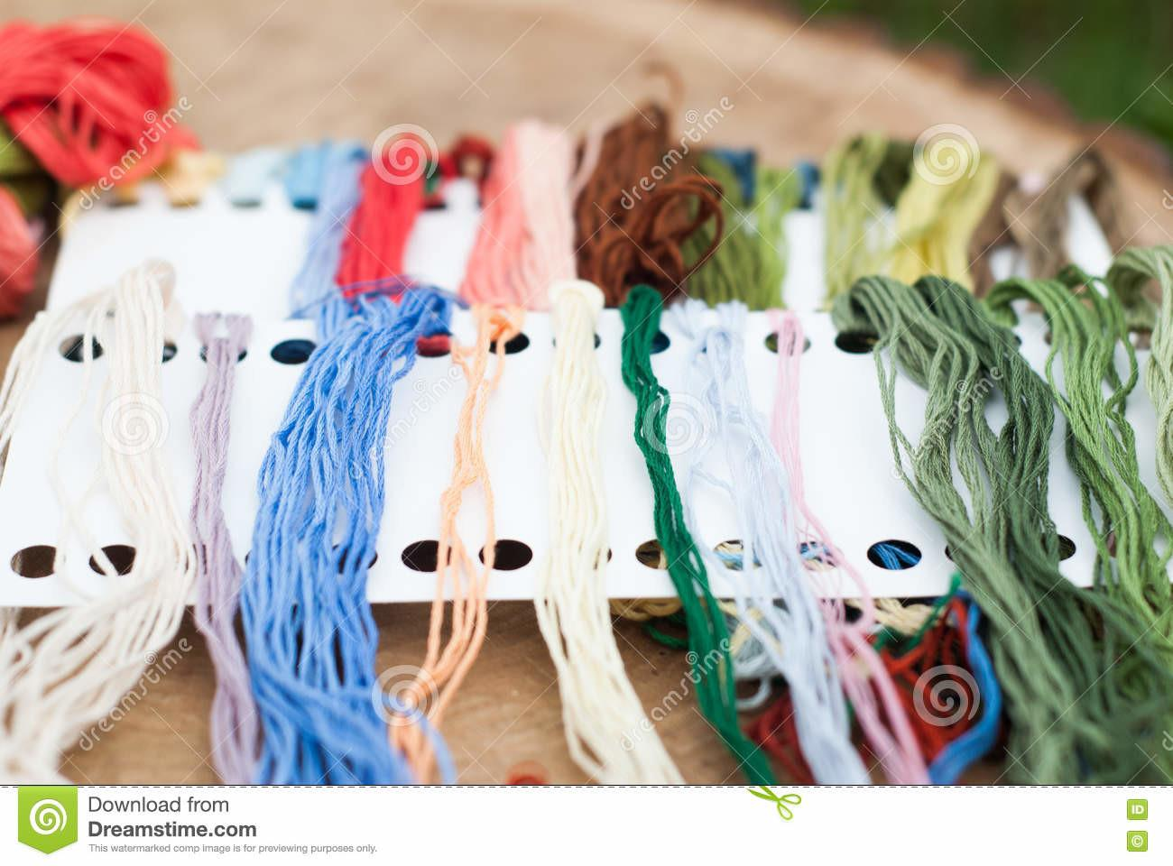 Colorful Yarn Crafts Stock