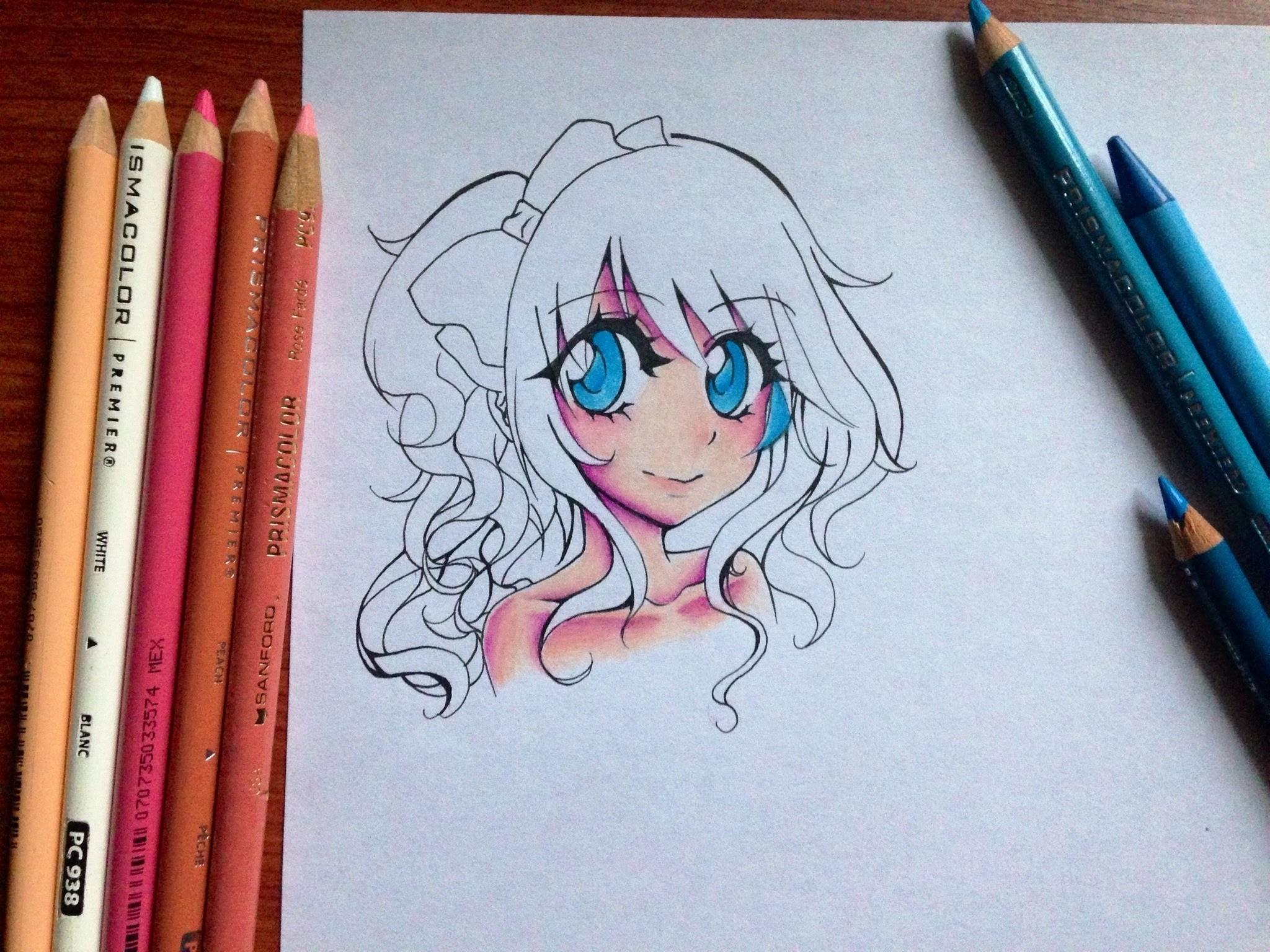 Coloring Anime Skin Colored Pencils Fun Pages