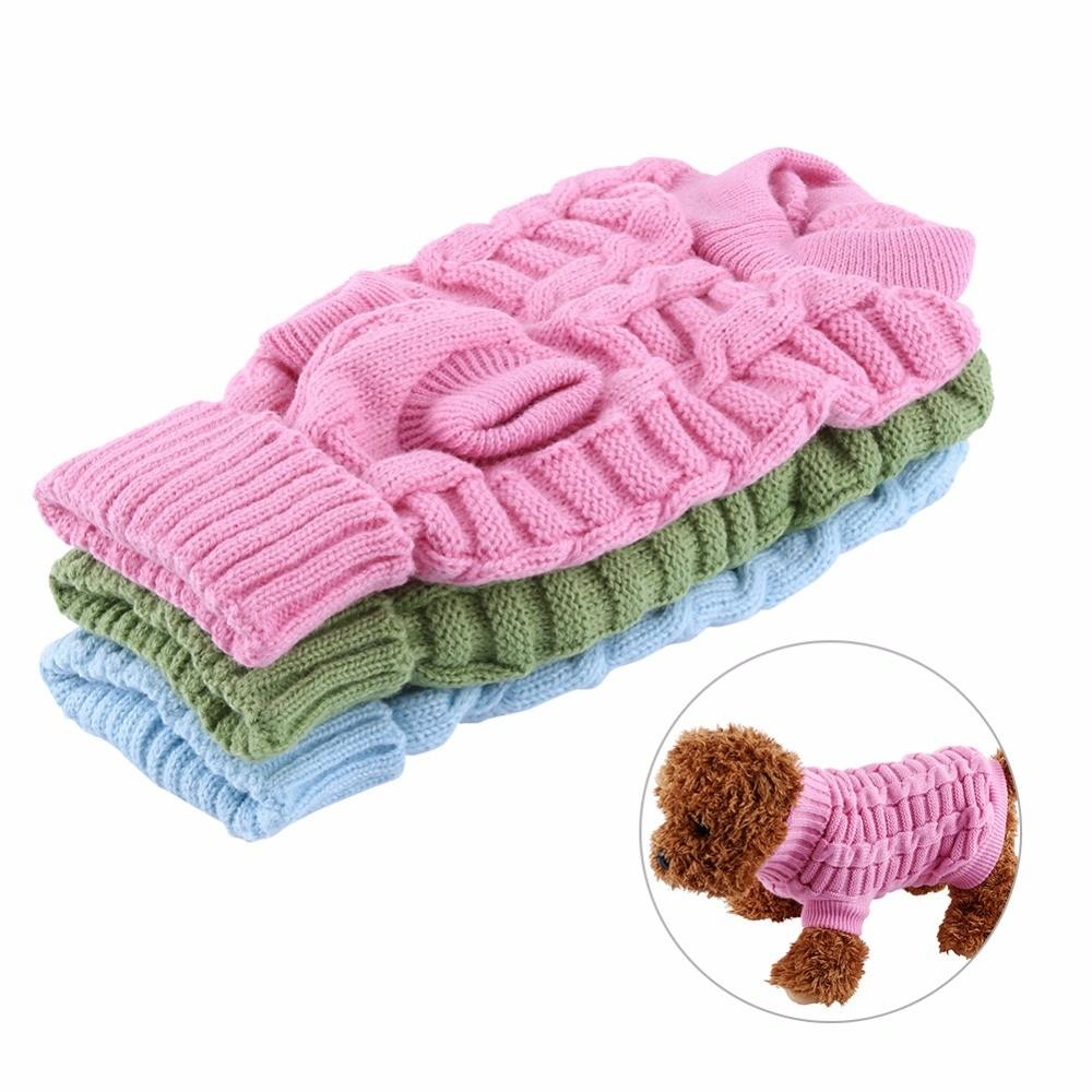 Colors Pink Green Small Pet Puppy Cat Dog Knitted