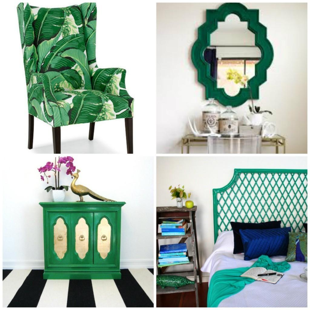 Colour Trend Emerald Green Furniture Wall
