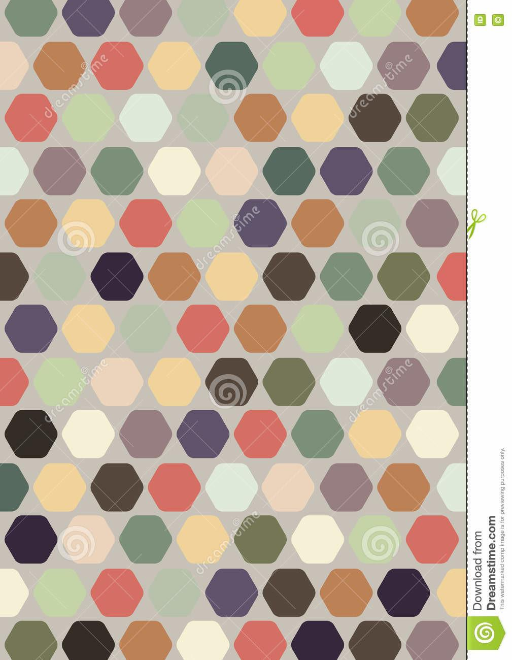 Colourful Abstract Hexagon Design Decoration