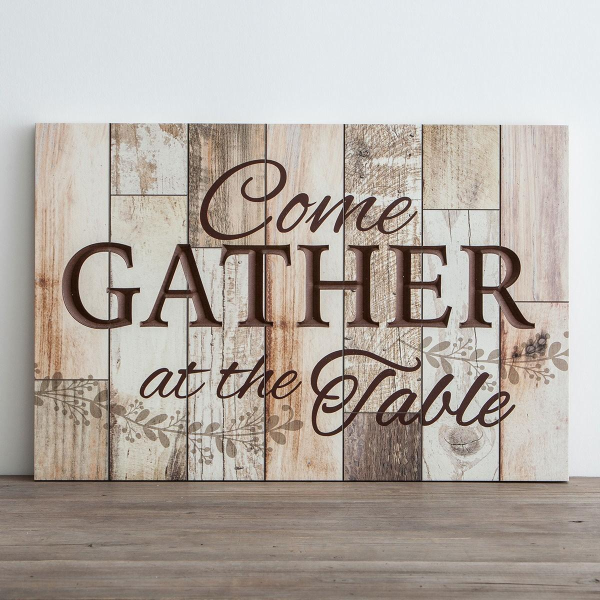 Come Gather Table Wooden Wall Art Dayspring