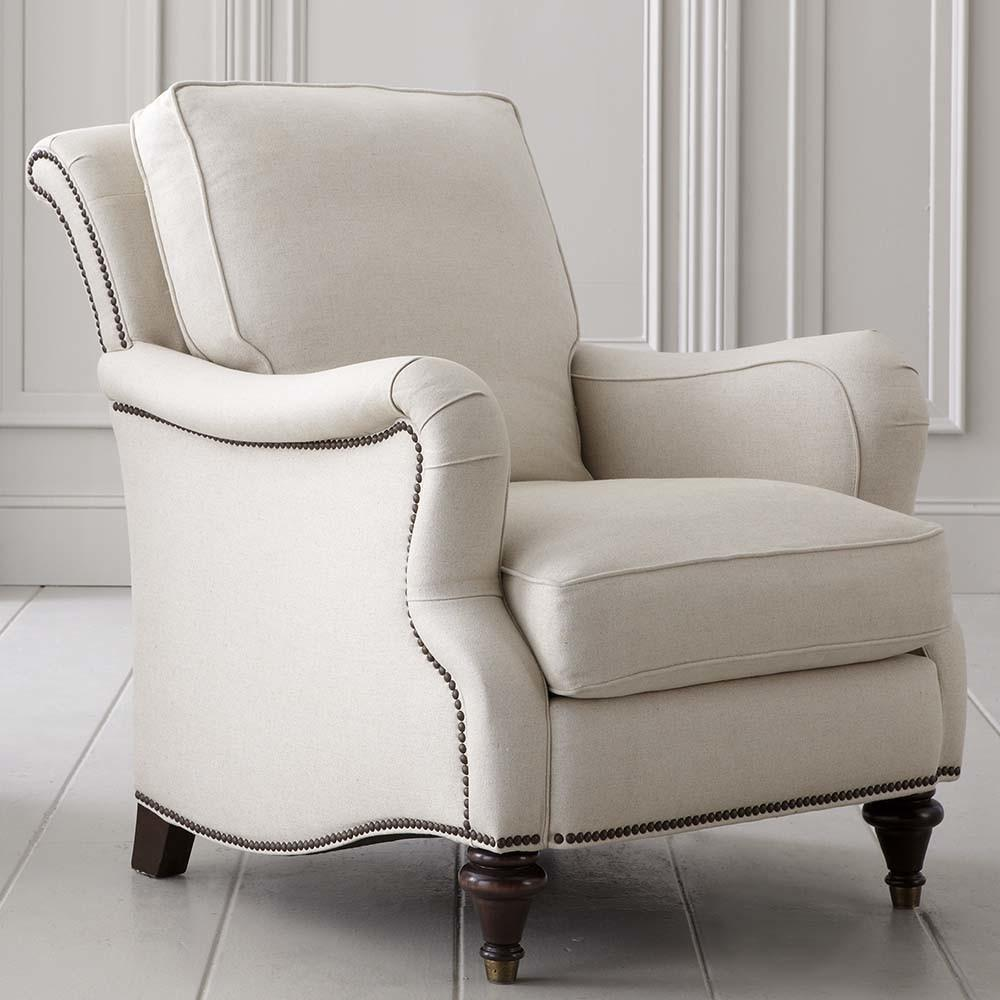 Comfortable Blend Down Fill Fabric Accent Chair