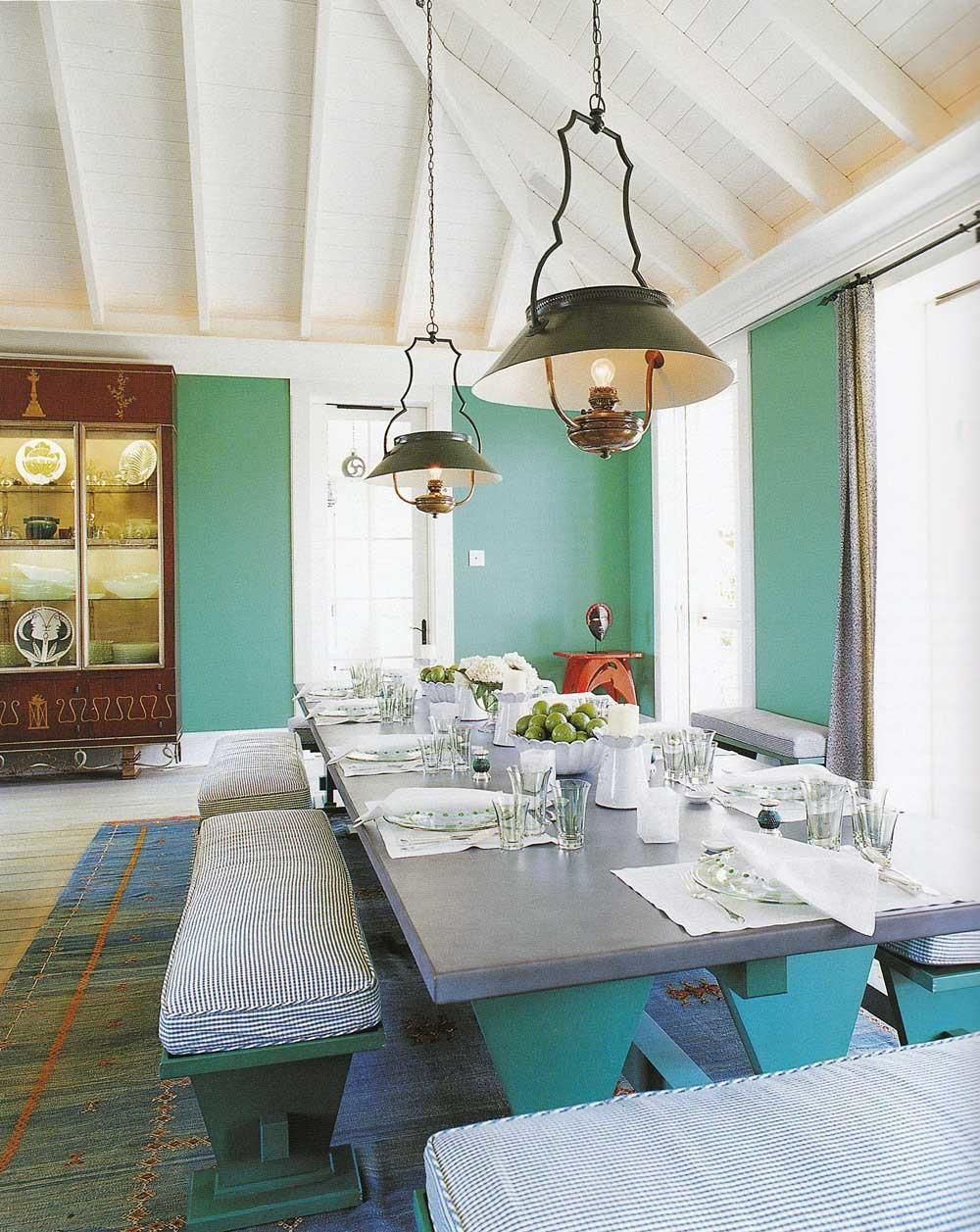 Comfortable Dining Room Eclectic Interior Design
