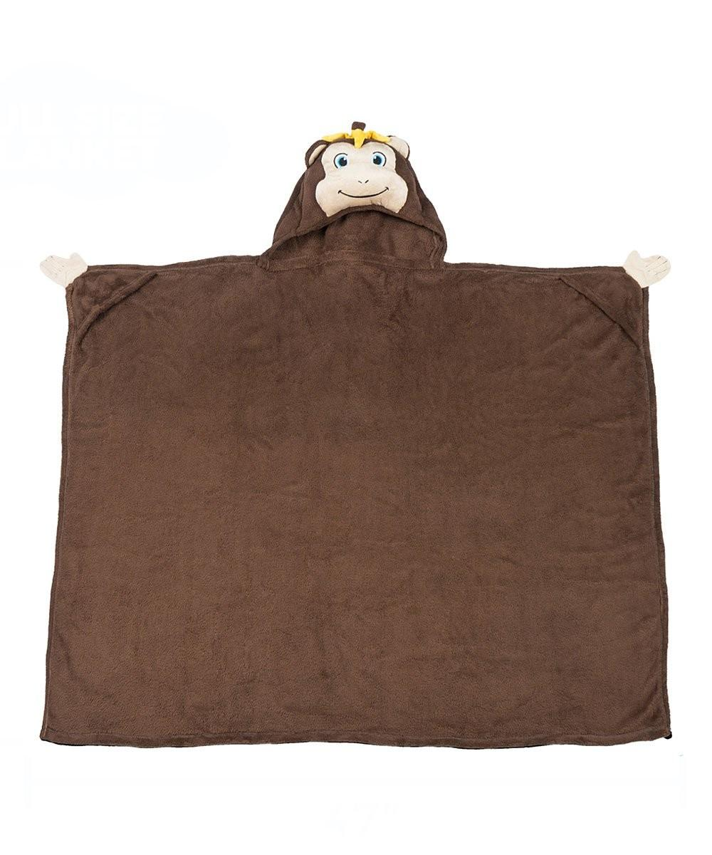Comfy Critters Brown Milo Monkey Critter Hooded