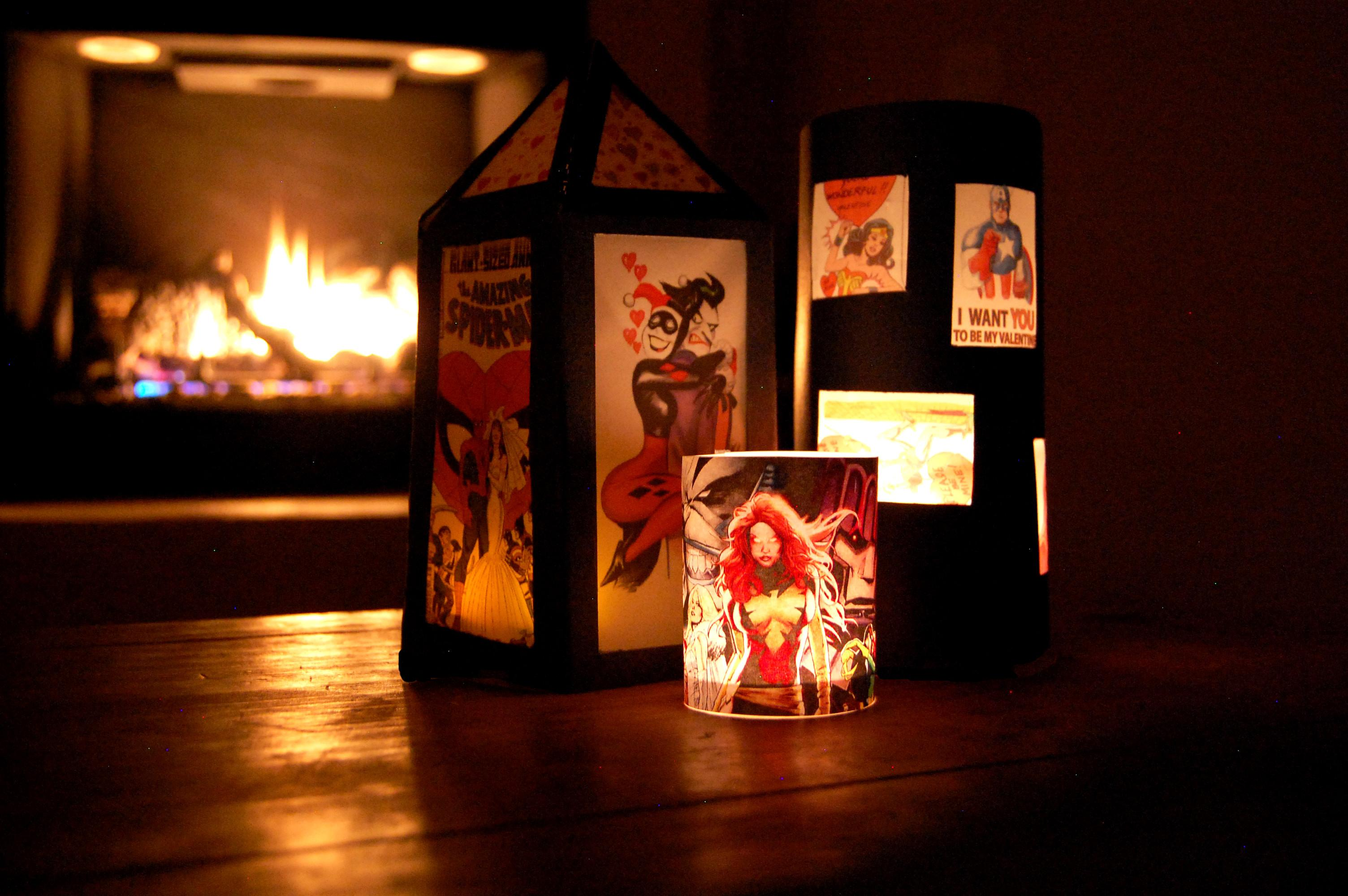 Comic Book Inspired Valentine Lanterns Lisathegeekmom