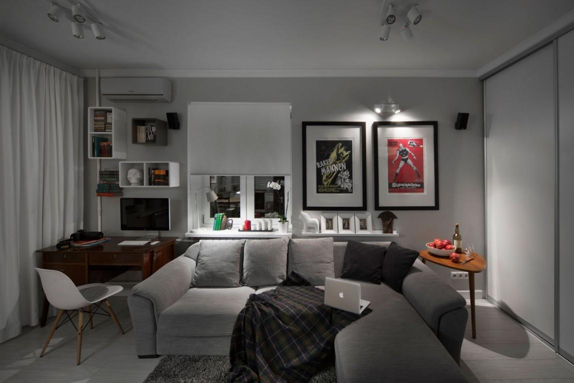 Compact Bachelor Pad Captures All Right Details