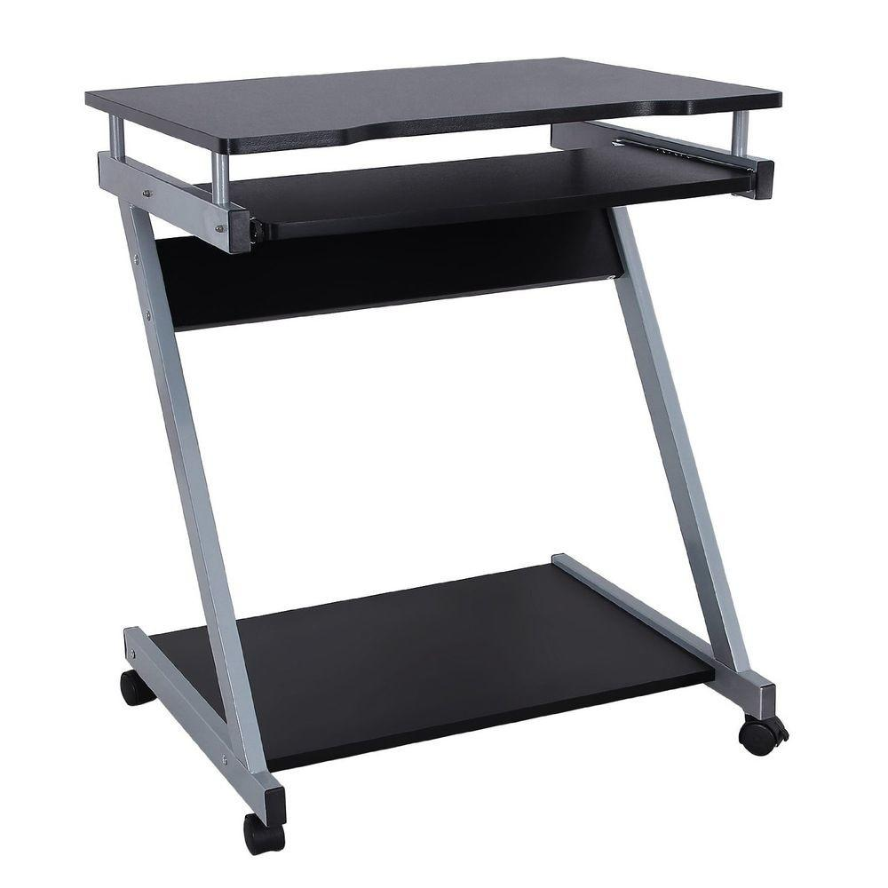 Compact Computer Desk Wheels Student Writing Table Dorm