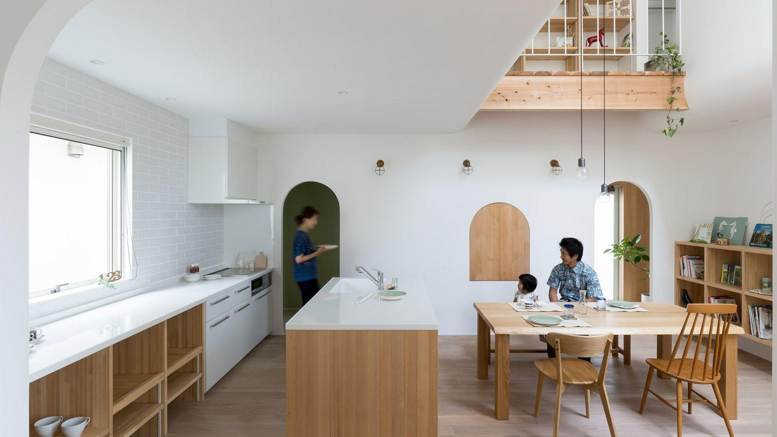 Compact Home Japan Looks Enchanting Arches Curves