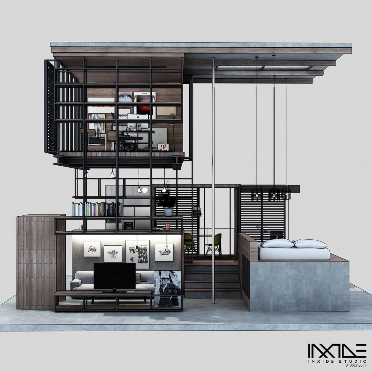 Compact Modern House Made Affordable Materials