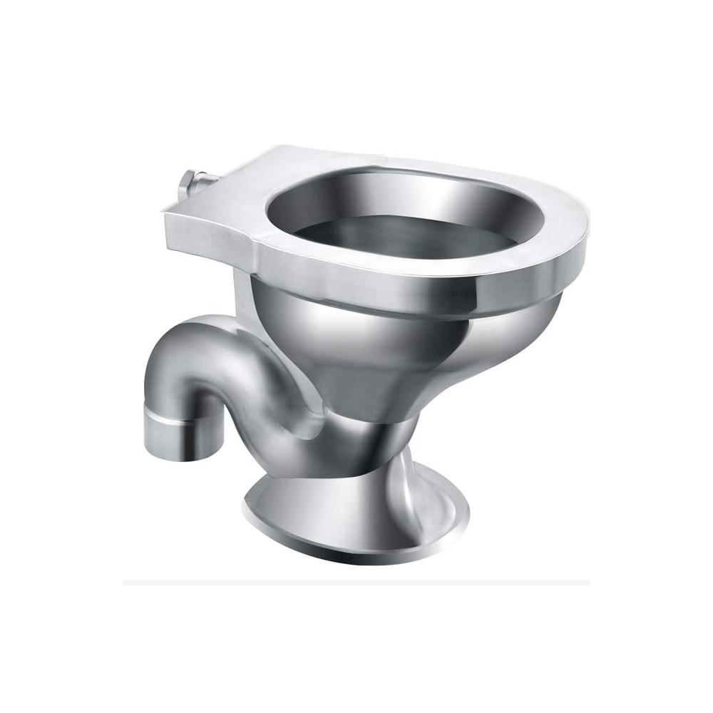 Compact Wall Mounted Corner Stainless Steel Cell Toilet