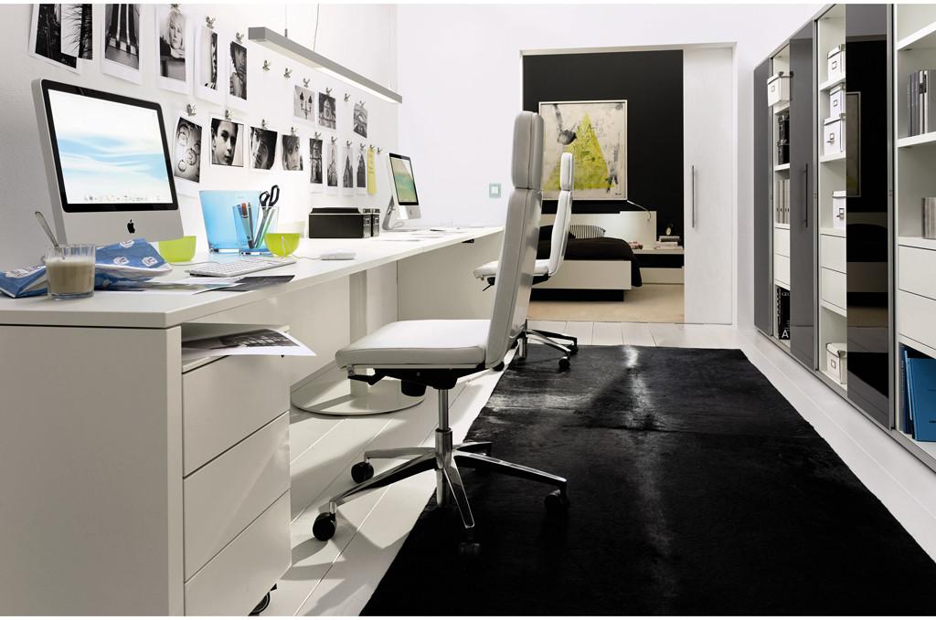 Compact White Home Office Design Stylehomes