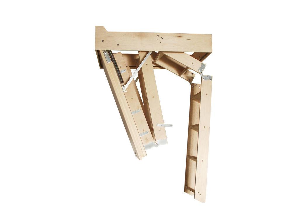 Compact Wooden Folding Attic Stairs 22quot 36quot