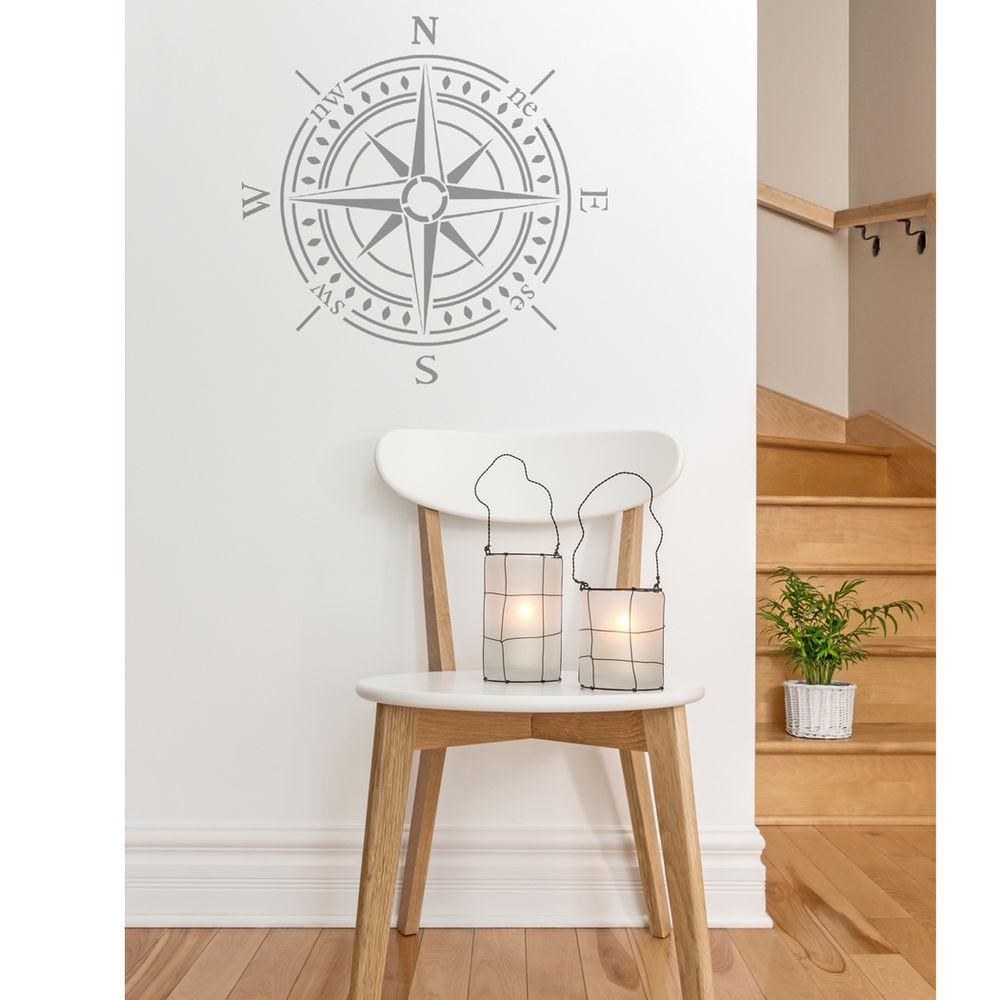 Compass Bearing Stencil Large Diy Walls Decor