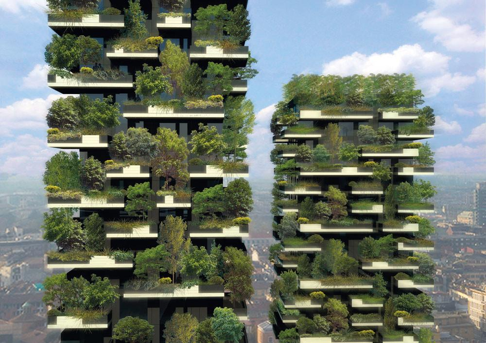 Complete Facade Greening High Rise Apartment Building