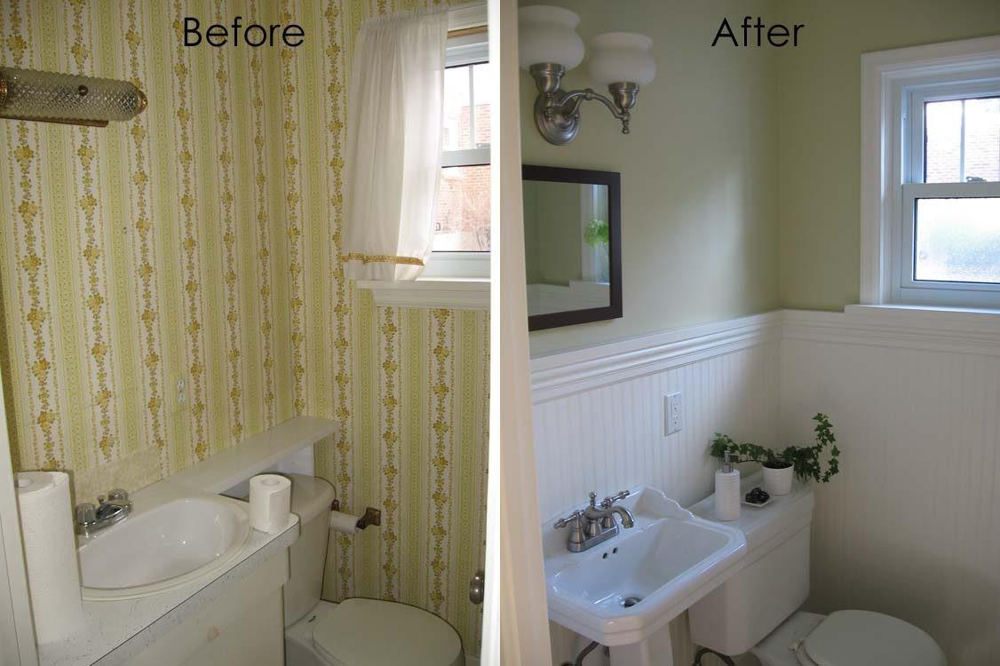 Complete Half Bath Remodel Guest Powder Room Reno Before