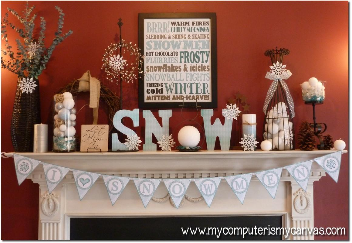 Computer Canvas New Winter Printables