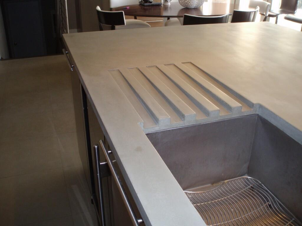 Concrete Countertop Detail Brooks Custom