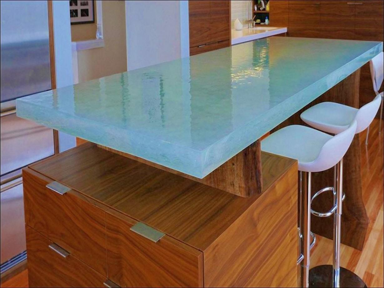 Concrete Countertops Pros Cons Simple Model Glass Home