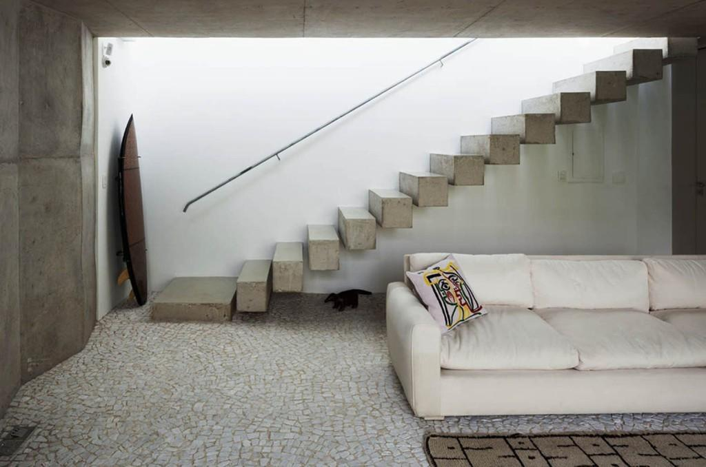Concrete Floating Stairs