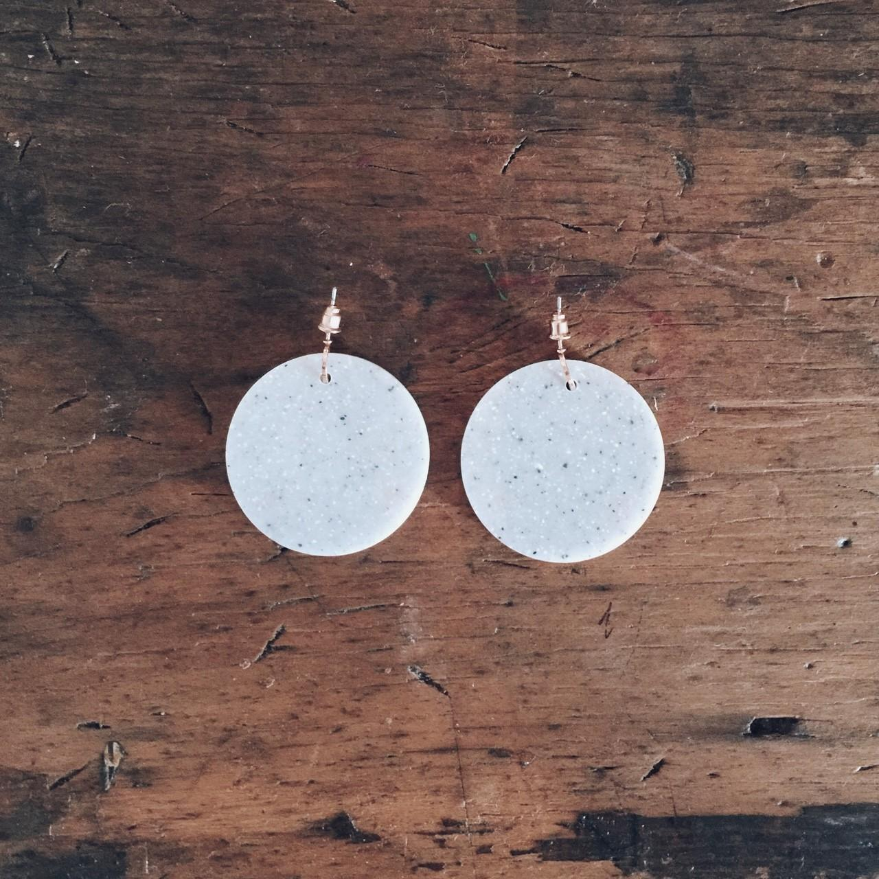 Concrete Look Rose Gold Cos Earrings Can Amy Spires