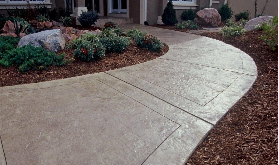 Concrete Sidewalk Design Decorative Options