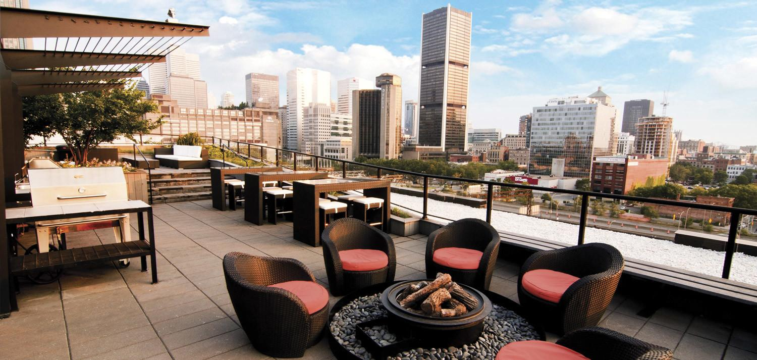 Condos Rooftop Terrace Montreal Vel