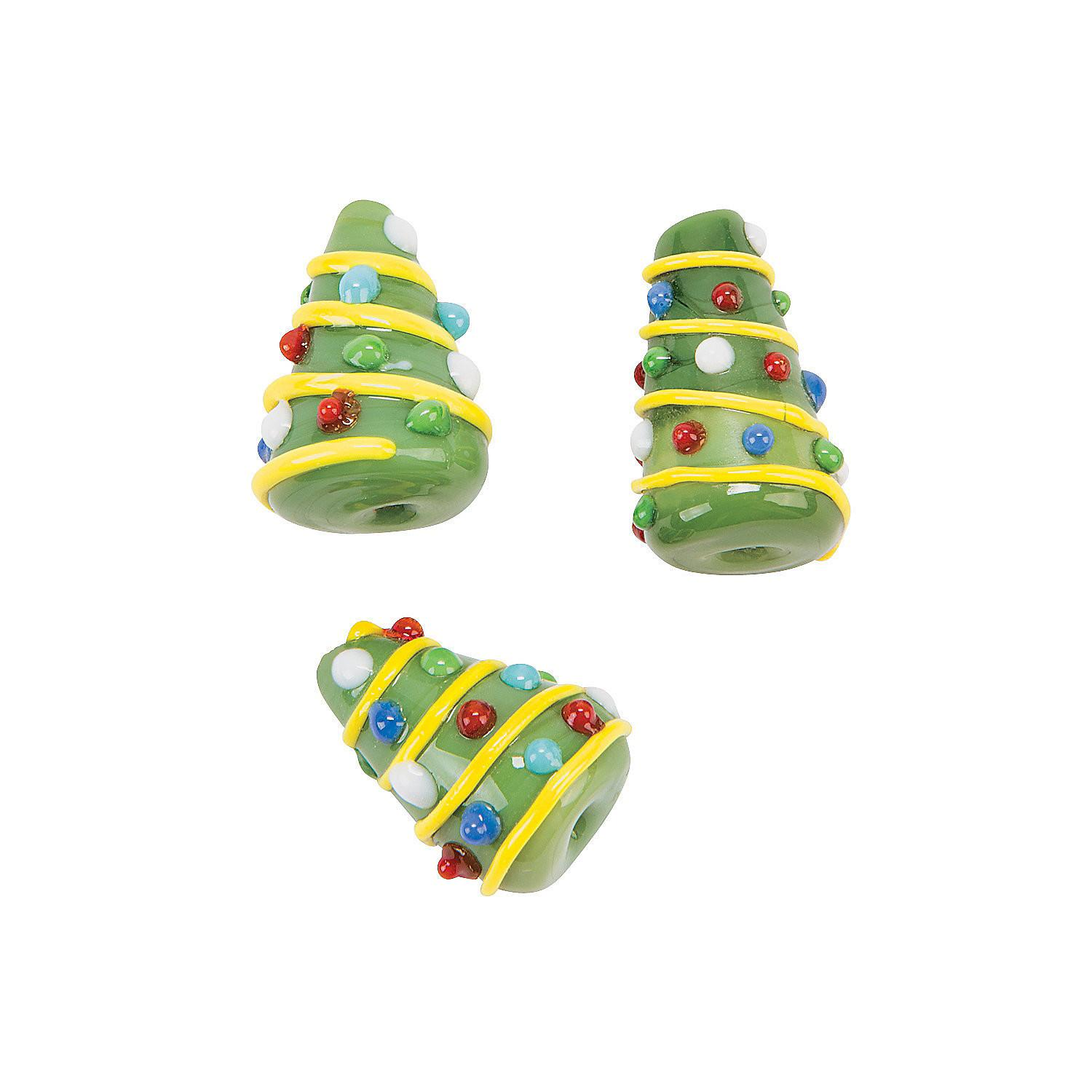 Cone Shaped Christmas Tree Lampwork Beads Oriental Trading