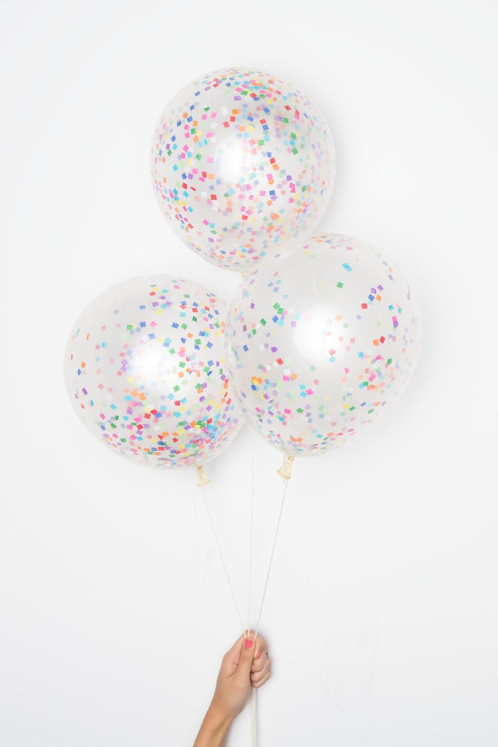 Confetti Balloons Tiny Rainbow Diy Set