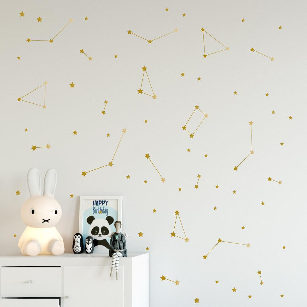 Constellation Wall Decal Kids Bedroom Removable Decoration