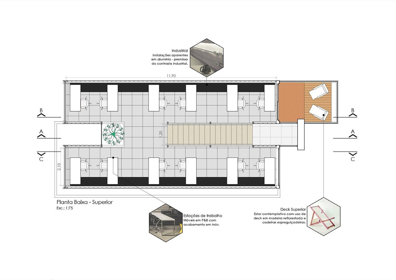 Container Modular Sustainable Office Structure