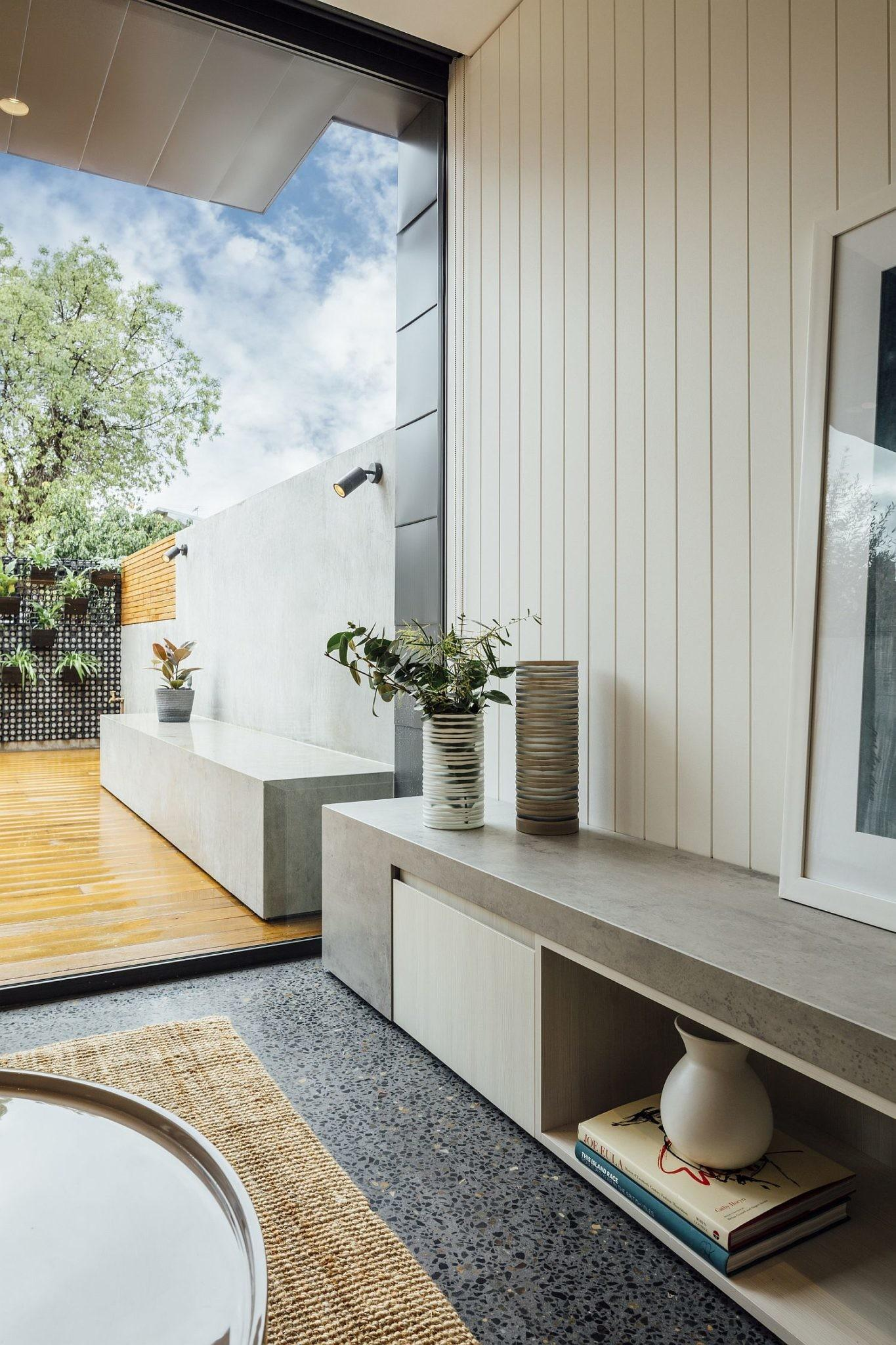 Contemporary Avatar Terrace Home Melbourne Flooded