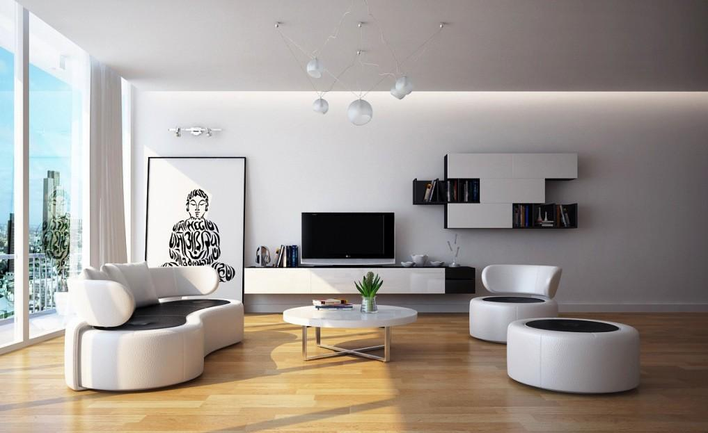Contemporary Black White Living Room Ideas 2017