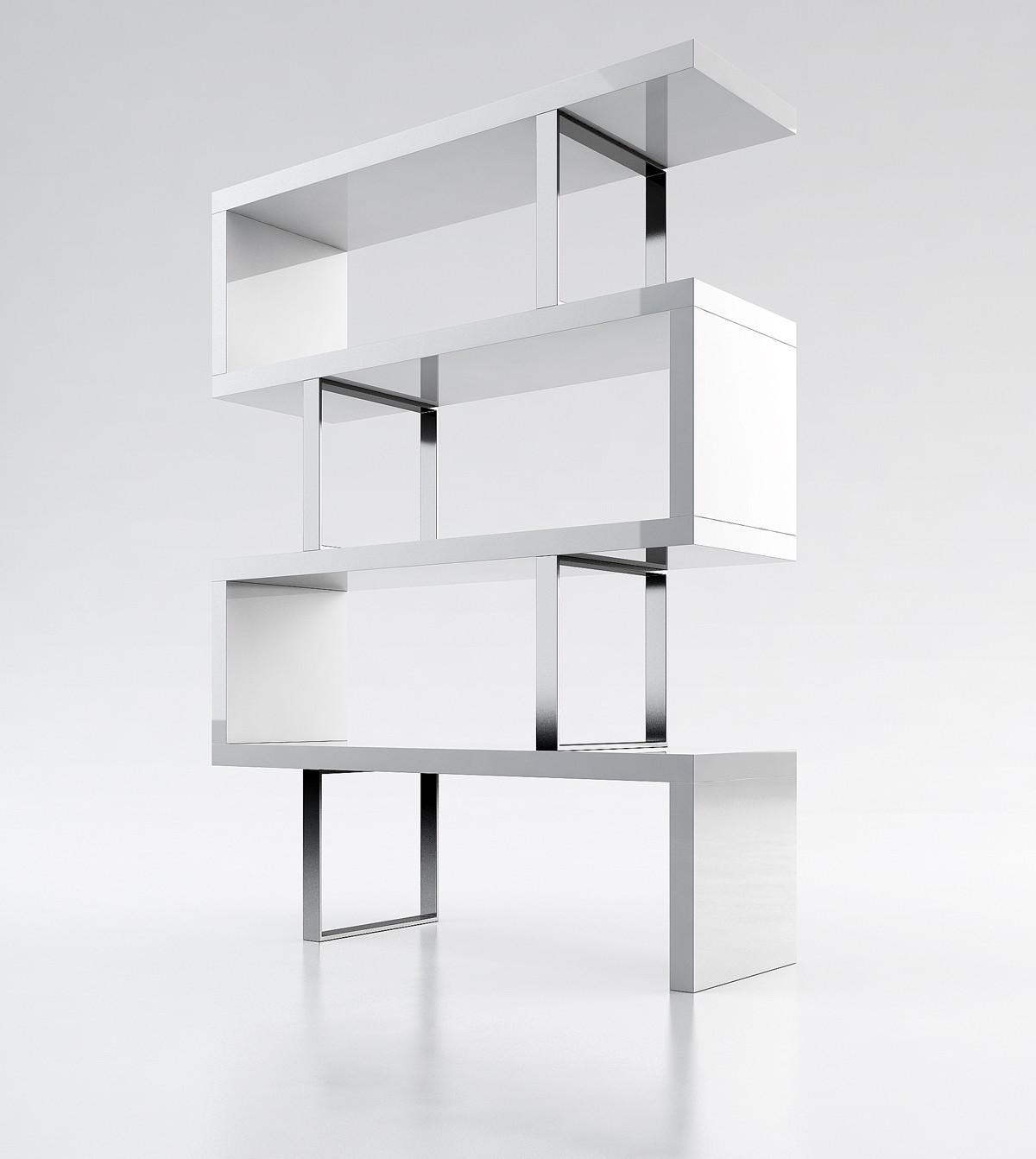 Contemporary Bookcase Three Color Options Los Angeles
